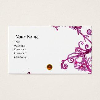 MAGIC BERRIES  MONOGRAM gem orange  white Business Card
