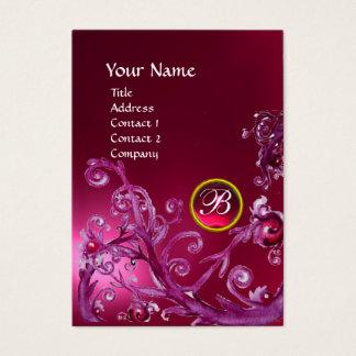MAGIC BERRIES MONOGRAM GEM ruby pink Business Card