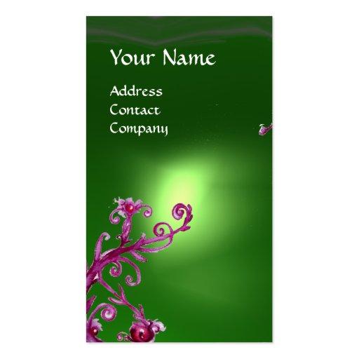 MAGIC BERRIES MONOGRAM green Business Cards