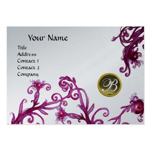 MAGIC BERRIES MONOGRAM, Grey Agate platinum Business Card