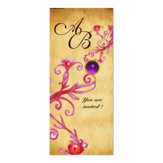 MAGIC BERRIES  MONOGRAM  Parchment Purple Amethyst Card