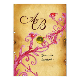 MAGIC BERRIES  MONOGRAM  Parchment Yellow topaz Card