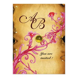 MAGIC BERRIES  MONOGRAM  Parchment Yellow topaz Card