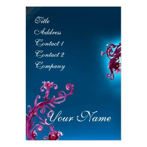 MAGIC BERRIES MONOGRAM purple red blue Business Cards