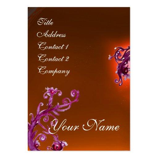 MAGIC BERRIES MONOGRAM purple red orange Business Cards