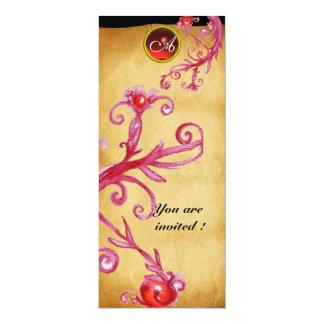 MAGIC BERRIES  MONOGRAM,  red Card