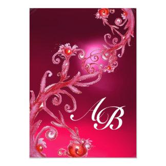 MAGIC BERRIES,MONOGRAM red purple white Card
