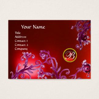 MAGIC BERRIES MONOGRAM, ruby red Business Card