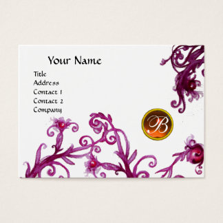 MAGIC BERRIES MONOGRAM,topaz orange eggshell Business Card