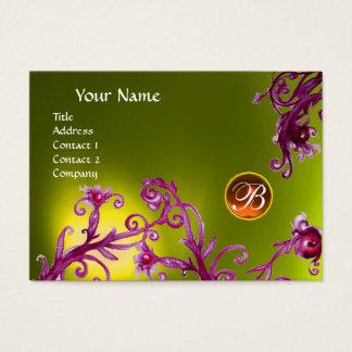 MAGIC BERRIES MONOGRAM,  topaz yellow orange Business Card