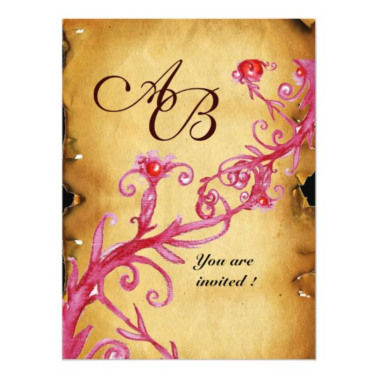 MAGIC BERRIES  MONOGRAM wax seal parchment Card