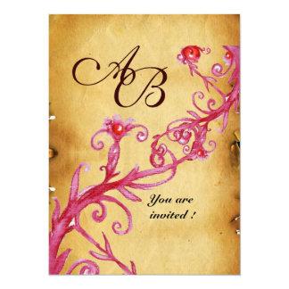MAGIC BERRIES  MONOGRAM wax seal parchment 5.5x7.5 Paper Invitation Card