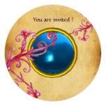 MAGIC BERRIES PARCHEMENT GEM blue sapphire Invitations