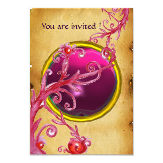 MAGIC BERRIES PARCHEMENT GEM red ruby Card