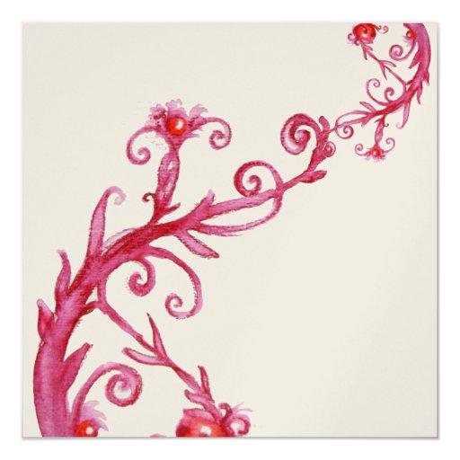 MAGIC BERRIES, red white metallic  gold Card