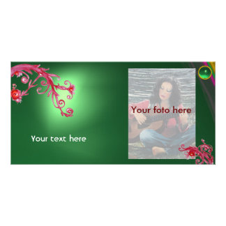MAGIC BERRY gem green Photo Greeting Card
