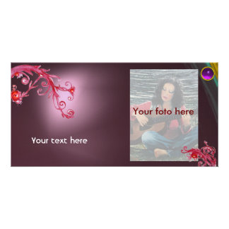 MAGIC BERRY gem violet Personalized Photo Card