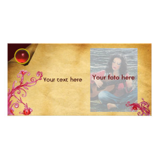 MAGIC BERRY parchment gem red Picture Card