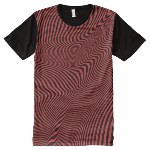 Magic Bizarre Strange Weird Dizzy Optical Illusion All-Over-Print Shirt