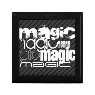 Magic; Black & Dark Gray Stripes Jewelry Boxes