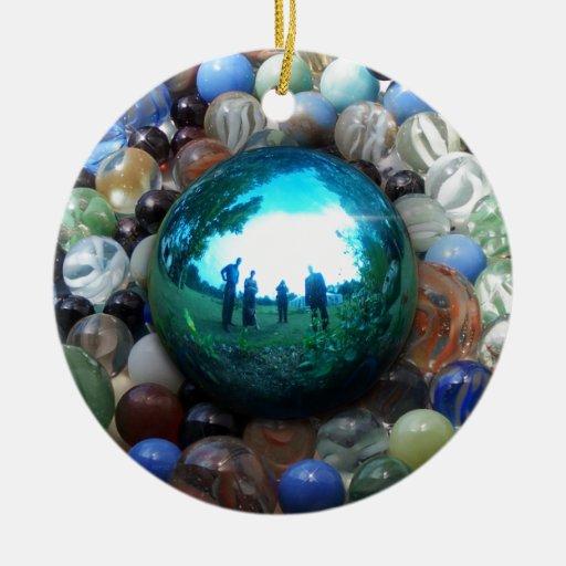 Magic Blue Marble Ornaments