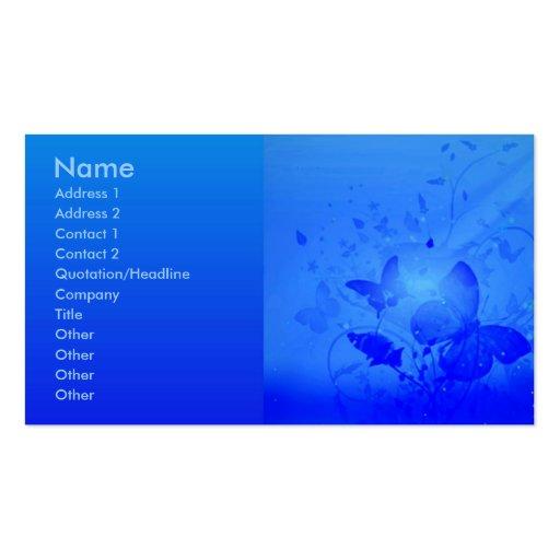 Magic Blue Profile Card Business Card Templates