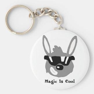 Magic Brawl Cool Rabbit Basic Round Button Keychain