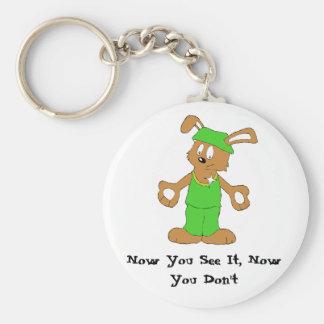 Magic Brawl Magician Rabbit Basic Round Button Keychain