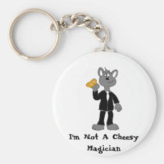 Magic Brawl Mouse Magician Basic Round Button Keychain