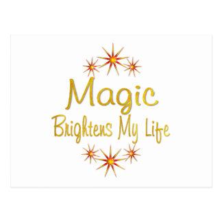 Magic Brightens My Life Postcard