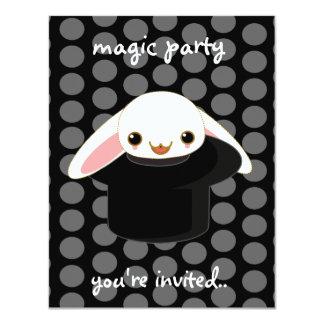"magic bunny 4.25"" x 5.5"" invitation card"