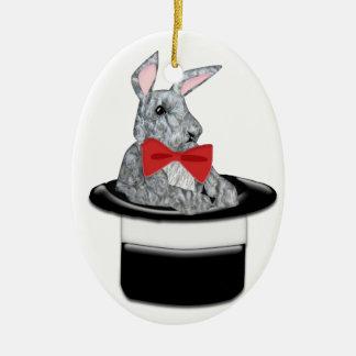 Magic Bunny Ceramic Ornament