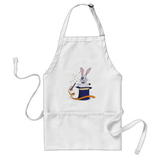 Magic bunny in top hat adult apron
