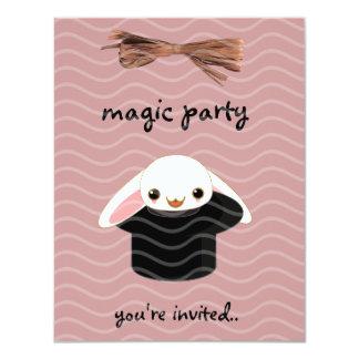 magic bunny 4.25x5.5 paper invitation card
