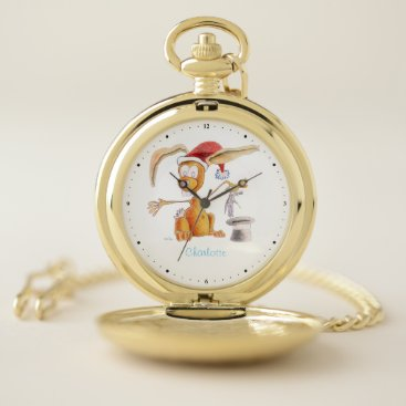 Magic bunny pocket watch