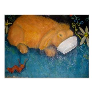 magic bunny postcard