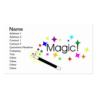 Magic Double-Sided Standard Business Cards (Pack Of 100)