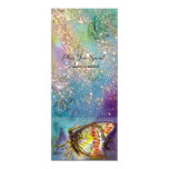 MAGIC BUTTERFLY 4X9.25 PAPER INVITATION CARD