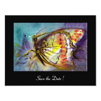 MAGIC BUTTERFLY  black blue Card