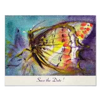 MAGIC BUTTERFLY  ,champagne metallic 4.25x5.5 Paper Invitation Card
