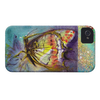 MAGIC BUTTERFLY IN BLUE GOLD SPARKLES iPhone 4 Case-Mate CASE