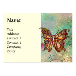MAGIC BUTTERFLY IN GOLD AND BLUE SPARKLES BUSINESS CARDS