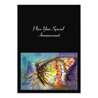 MAGIC BUTTERFLY 5X7 PAPER INVITATION CARD