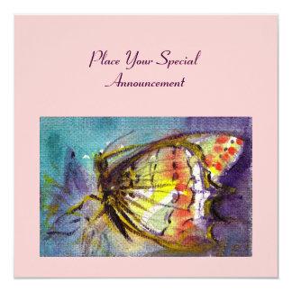 MAGIC BUTTERFLY 5.25X5.25 SQUARE PAPER INVITATION CARD