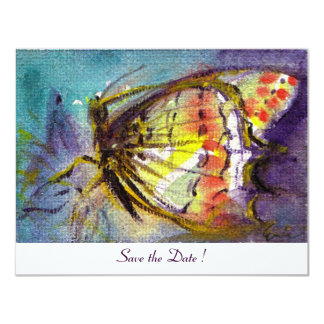 MAGIC BUTTERFLY  ,white 4.25x5.5 Paper Invitation Card
