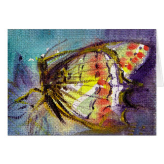 MAGIC BUTTERFLY WITH BLUE GOLD SPARKLES CARD