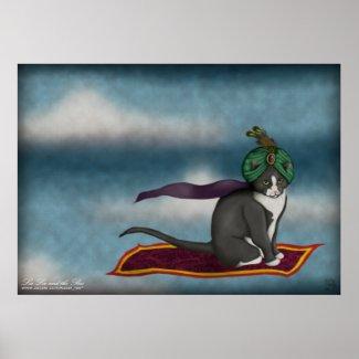 Magic Carpet Cat, print print