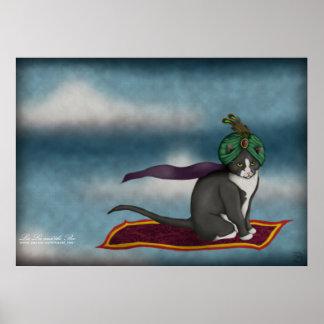 Magic Carpet Cat, print