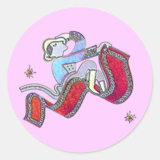 Magic Carpet Ride Classic Round Sticker