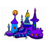 Magic Castle - Secret Mistery Fantasy Enchanted Post Card